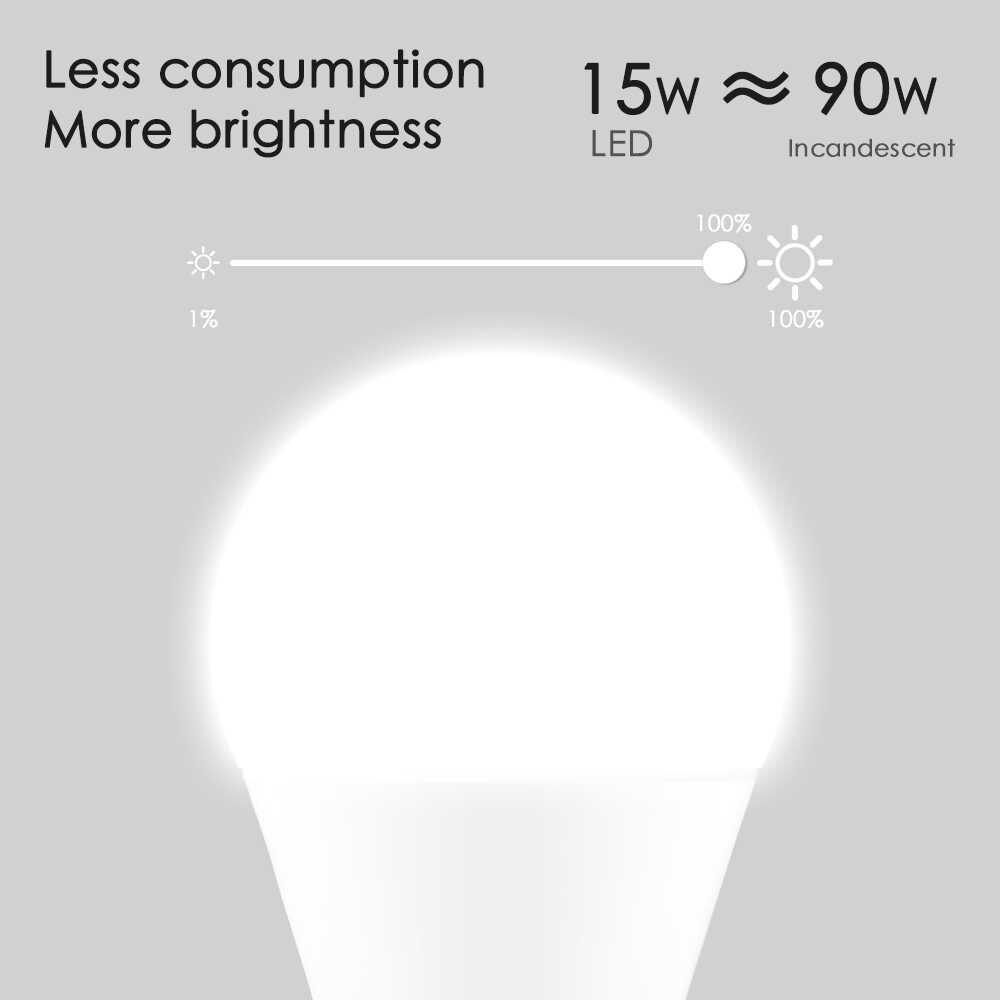 15W ampoule intelligente E27 Wifi lumière LED ampoule AC100V 220V maison intelligente APP télécommande lampe de Table avec Alexa et Google Assistant