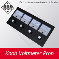 999 PROPS Knob Voltmeter Prop real escape room rotate all knobs to right position to point correct digits adventure game prop
