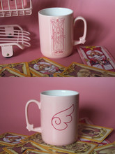 Japan Cartoon Anime Card Captor SAKURA Mugs Pink Ceramic Coffee Milk Tea Cup + Lid Mug Friend Present Without Spoon Presentation(China)