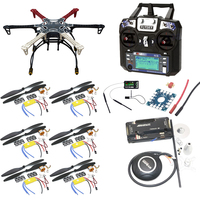 F550 Hexacopter Frame With Landing Gear kit w/ APM2.8 Flight control/7M GPS/A2212 1000KV 30A ESC/Flysky FS i6 TX For Rc Drone