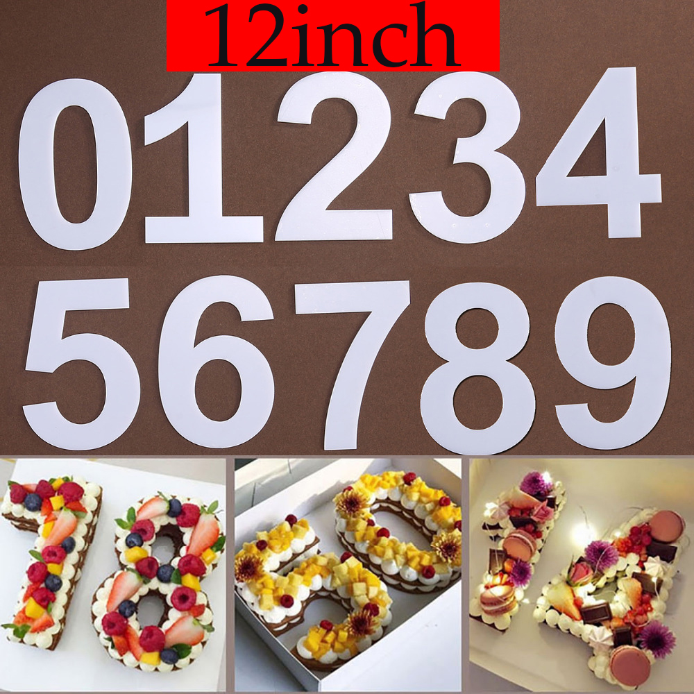 PET 0-8 Numbers Cake Mold Cake Decorating Tools Confeitaria Maker Birthday Cake