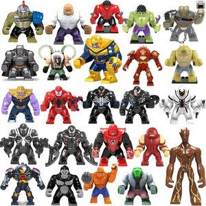 Big Figures Endgame Thanos Venom Carnage Energy Hulkbuster Gloves Batman Bricks Building Blocks Toys