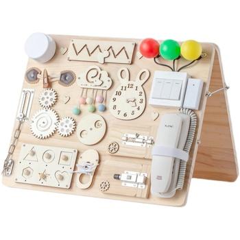 Zajęty pokładzie części domu Montessori dla dzieci DIY drewna szkolenia umiejętności dla rodziców i gra dla dzieci Puzzle inteligencja zabawki tanie i dobre opinie FancyTree CN (pochodzenie) MATERNITY W wieku 0-6m 7-12m 13-24m 25-36m 4-6y 7-12y 12 + y Do not eat Chiny certyfikat (3C)