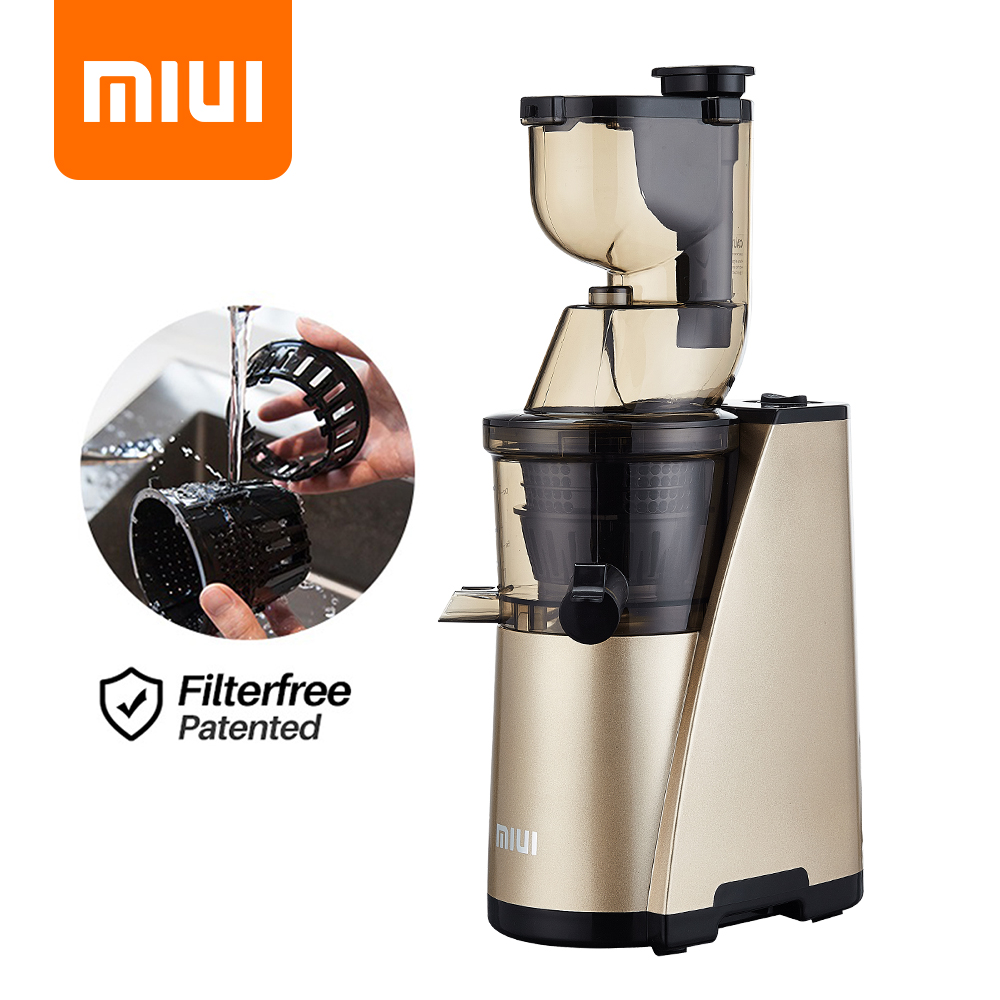 MIUI Slow Juicer 7Lv Screw Cold Press Juice Extractor Easy to Clean Filter Free Patented Large Diameter Quiet Motor Classic 2020