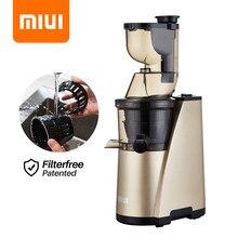 Exprimidor lento MIUI Extractor de jugo de presión en frío de tornillo de 7 segmentos de gran diámetro, fácil de limpiar, sin filtro, motor silencioso patentado Classic 2020