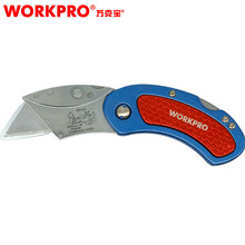 WORKPRO Mini Knives Utility Knife Aluminum Handle Folding with 10pc Extra Blades