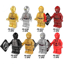 PG8023 Single Sale Figures Building Blocks Super Heroes New Comics Protocol Droid C3PO C-3PO Bricks Action Toys for children DIY