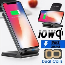 QI Wireless Charger Dock for iPhone X Xs Max XR Samsung Galaxy S8/S9 N