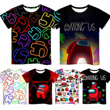 2021 yeni 3D oyun arasında baskılı kısa kollu T-shirt çocuk erkek kız Casual Tops Tees Toddler çocuk renkli Camiseta