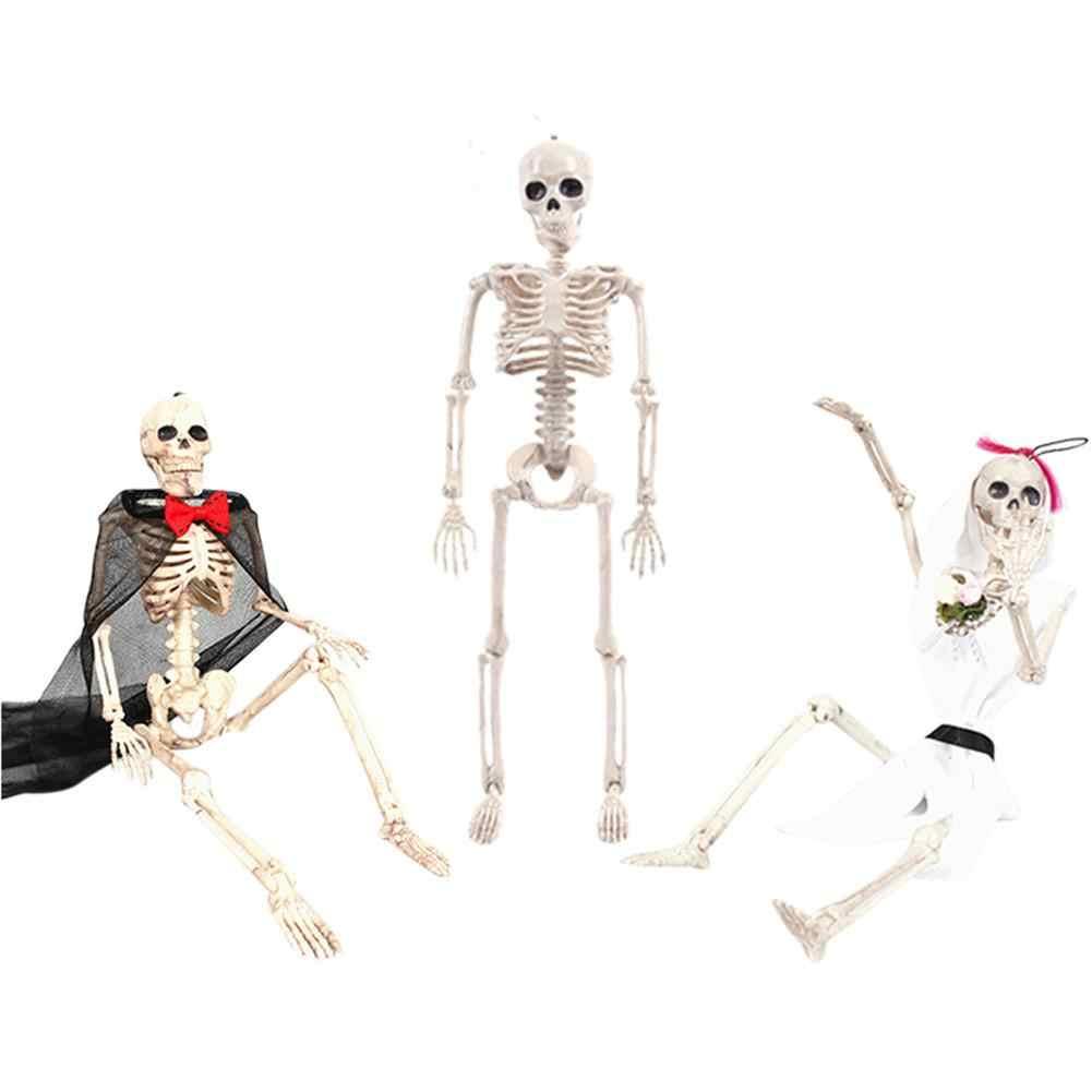 2019 新 ABS 済み可動人間花嫁新郎スケルトンフィギュア可動関節お化け屋敷の小道具ハロウィンパーティーの装飾