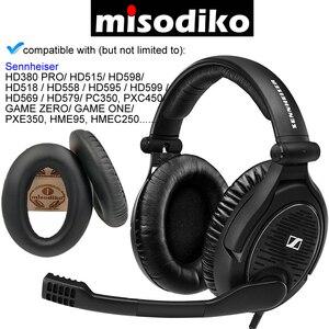 Image 1 - Misodiko yedek kulak pedleri yastık Sennheiser HD598 HD555 HD558 HD559 HD595 HD599 HD569 HD579 HD515 HD518, oyun One/sıfır