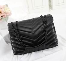 Женская сумка из натуральной кожи, Роскошный дизайнерский саквояж на цепочке из овечьей шкуры, мессенджер через плечо