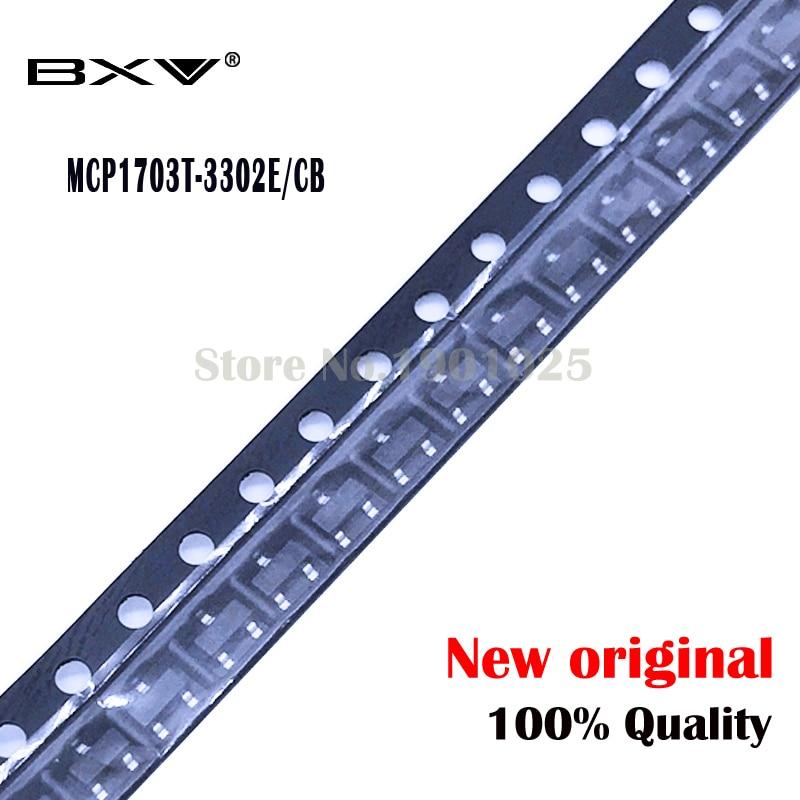Free Shipping 10PCS MCP1703T-3302E/CB SOT23 MCP1703 3.3V MCP1703T SOT23 New Original