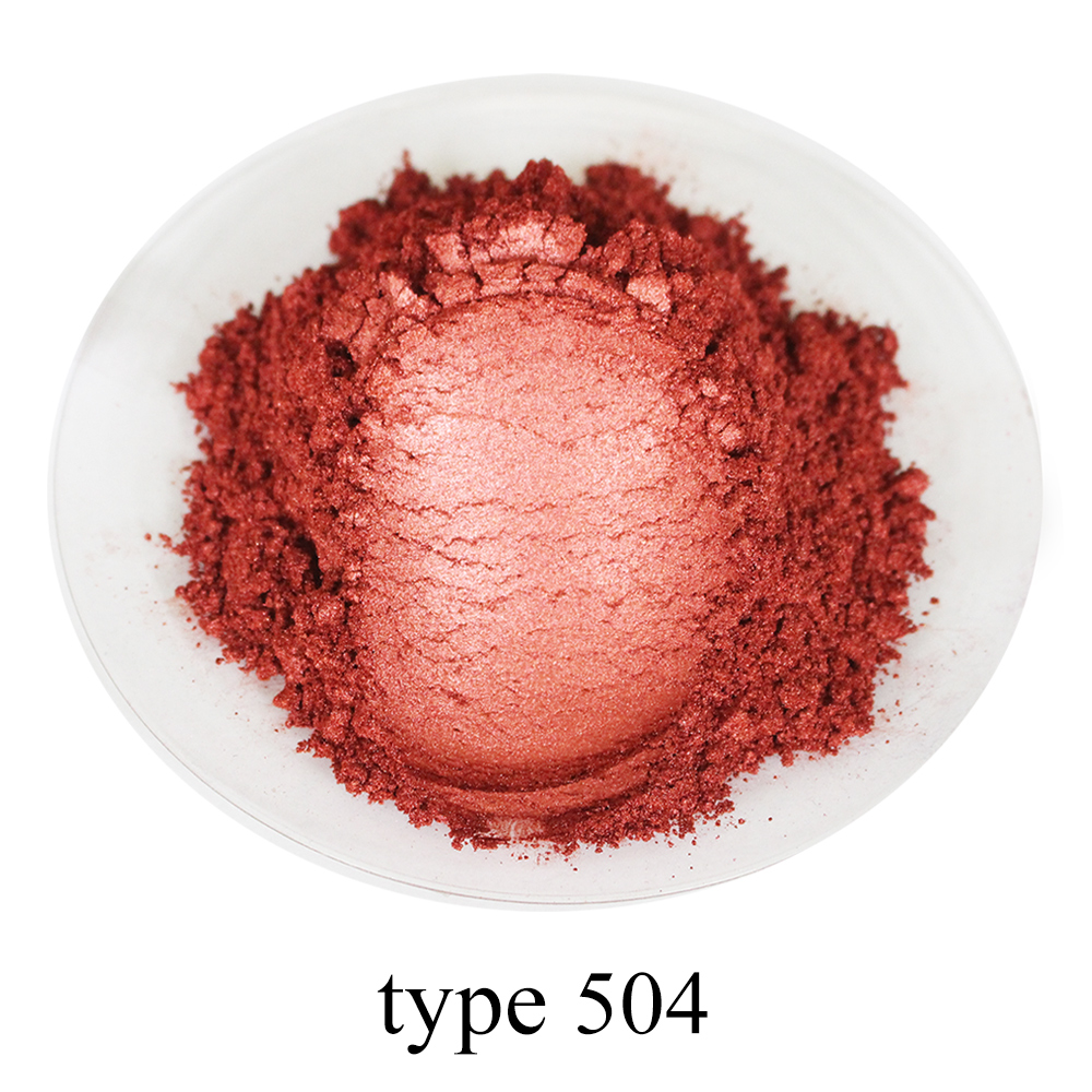 250g Pearl Powder Pigment # 504 Wine Red Mineral Mica Powder Dye Colorant For Soap Automotive Arts Crafts Acrylic Paint Powder