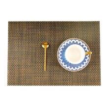 2pcs 4pcs 6pcs 8pcs PVC Europe Style 4*4 weave Placemat Waterproof Decoration place Mat Heat-resistant Tablemat Dishes Coaster Tableware For Table