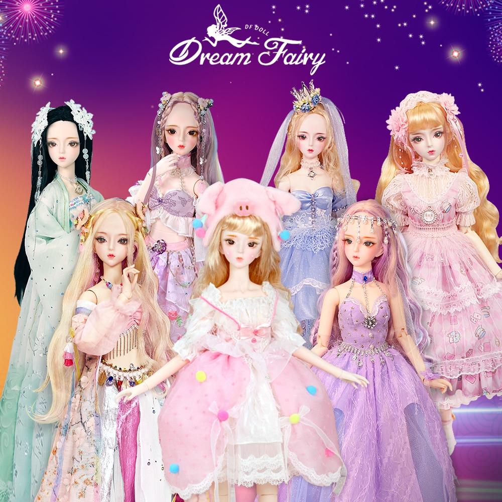 Кукла DBS 1/3 BJD механическое шарнирное тело с макияжем, включая волосы, глаза, одежду, рост 62 см, Сказочная мечта для девочек