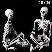 40cm Human skeleton Halloween Horror skull simulation human skull hanging ghost decoration props Halloween Decoration Party Prop iwish halloween wind up on the chain jump ghost black human skeleton jumping human skull gift toy for kids toys all saints day