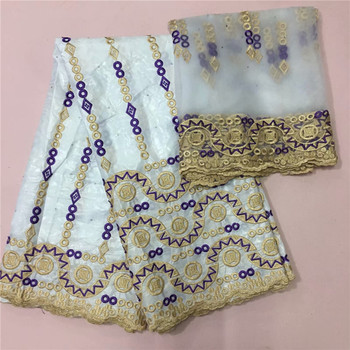New Design African Bazin Riche Fabric 2019 Hot Selling Bazin Riche Getzner Latest High Quality 5+2 Yards/lot For Dress  ky82-405