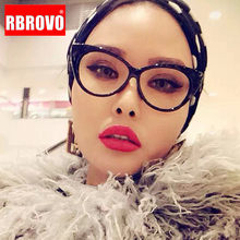 RBROVO-Montura De gafas De ojo De gato para Mujer, anteojos De marco claro De marca De lujo, Monturas Retro