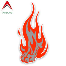 Aliauto Personality Car Sticker Flame Wolf Paw Auto Decor Vinyl Decal Cover Scratches for Mazda 3 Subaru Golf Renault ,16cm*8cm(China)