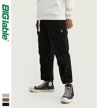 BIG LABLE 2019 FW Collection Men Corduroy Pant Loose Fit Ove