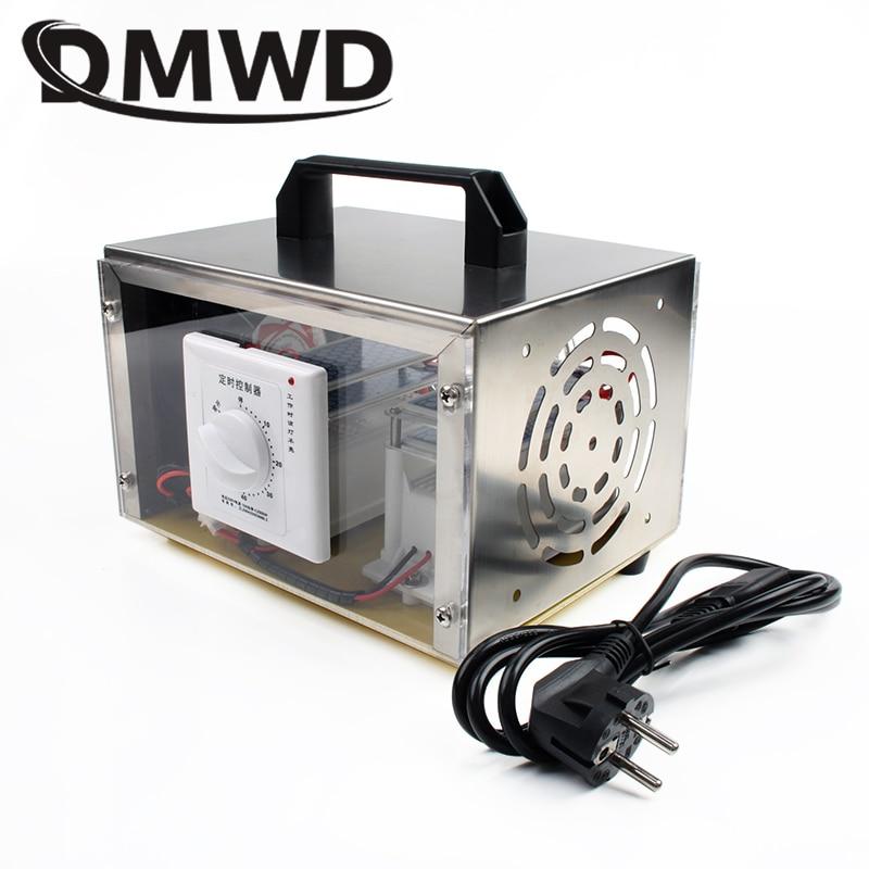 DMWD 20g/h Ozone Generator Air Purifier Deodorizer Ozonator Disinfection O3 Ozonizer Cleaner Sterilizer Timing Switch 110V 220V