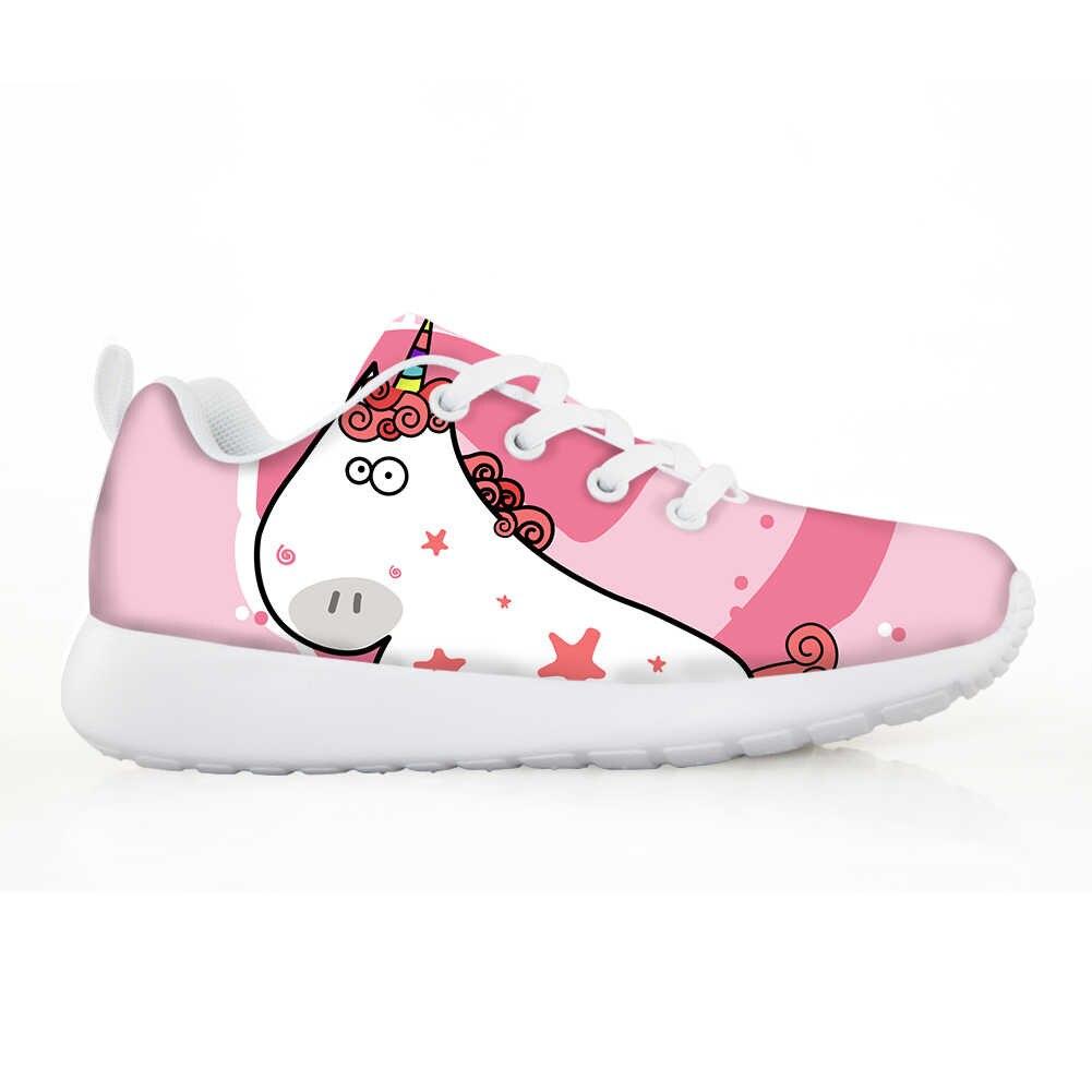 NOISYDESIGNS אופנה ילדי נעלי חיות Cartoon מודפס מקרית קל משקל נעלי ספורט ריצה בנים בנות ילדי Tenis Infantil