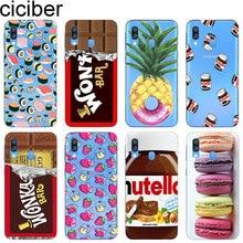 Ciciber Cover for Samsung Galaxy A50 A70 A40 A30 A20 A60 A10 A20e A80 Phone Cases Soft Silicone TPU Coque Chocolate Sushi Fundas