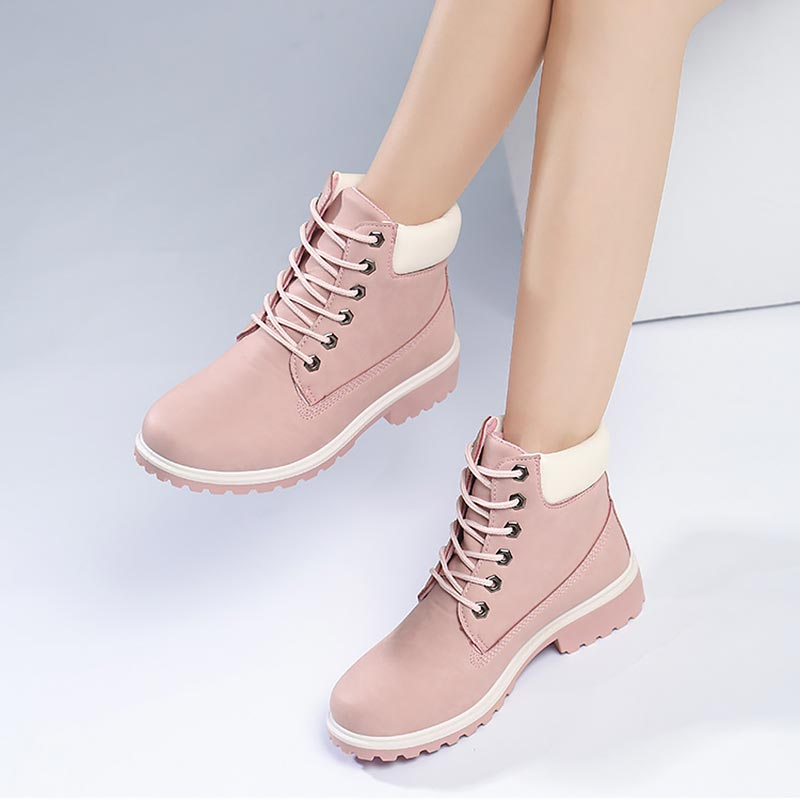 Image 4 - Winter boots women shoes 2019 warm fur plush sneakers women snow boots women lace up ankle boots winter shoes woman botas mujer-in Ankle Boots from Shoes