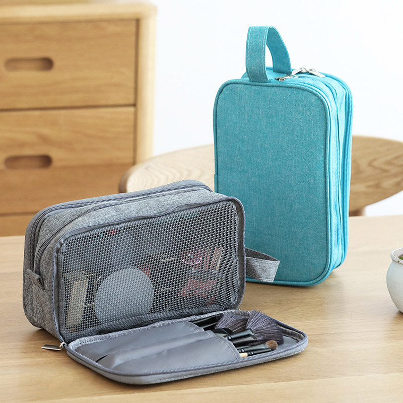 Waterproof Toiletry Bags Travel Wash Bag Dry Wet Separation Shaving Organizer With 3 Ockets Storage Makeup Cosmetics Bags