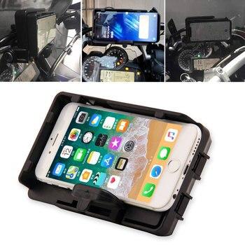 Cargador USB para motocicleta, soporte para teléfono móvil para BMW R1200GS LC & Adventure 2014 2015 2016 2017 para S1000XR R1200RS