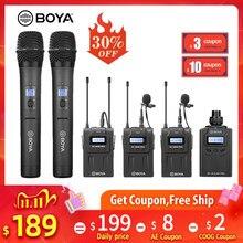 Boya-pro – Microphone à condensateur UHF sans fil, récepteur Audio et vidéo pour caméra Canon, Nikon, Sony