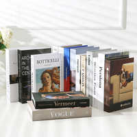 Fake Book Ornaments Simple Modern English Decoration Props Book Model Coffee Shop Hotel Study Soft-fitting Props Book Model