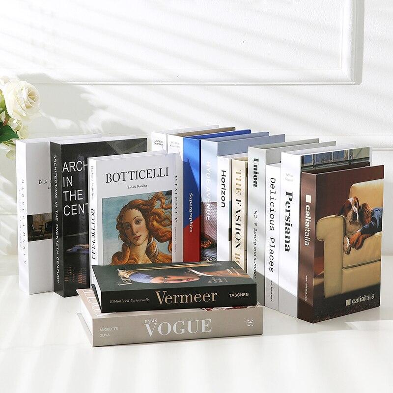 Ornamentos para libros falsos accesorios de decoración Simple inglés moderno modelo de libro cafetería ESTUDIO DE Hotel accesorios de ajuste suave modelo de libro