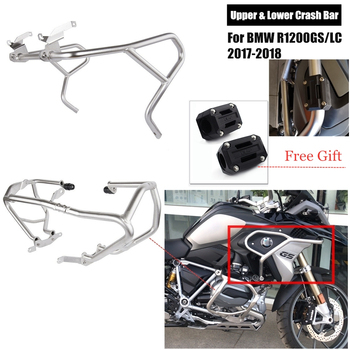 For BMW R1200GS LC R 1200GS 1200 GS 2017 2018 Upper & Lower Motorcycle Engine Highway Guard Crash Bar Bumper Frame Protection