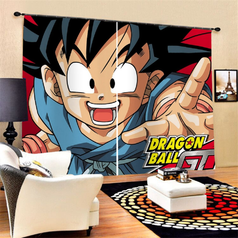 Custom Anime Dragon Ball Blackout Curtains Bedroom Livingroom Home Window Drapes 2 Panels for Kids Boys Home Decor Dropshipping image