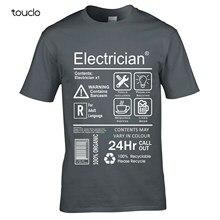 Camiseta para eletricista, camiseta masculina de engenharia elétrica para verão 2019