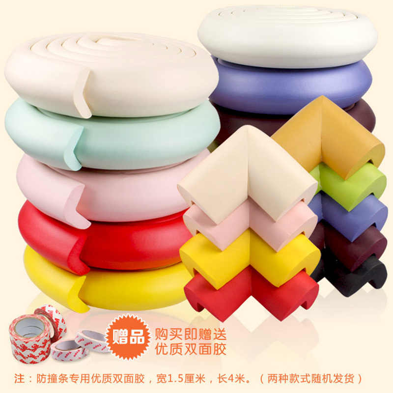 Bayi Keselamatan Meja Meja Edge Guard Strip Rumah Bantal Guard Strip Aman Perlindungan Anak-anak Strip Bar Lembut Menebal Dropshi