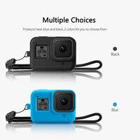 Vamson для GoPro Hero 8 черный силиконовый защитный чехол Крышка объектива ЖК-экран Защита от пыли для GoPro аксессуары VP653 2