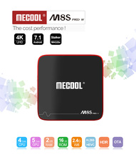 лучшая цена Mecool M8S pro W ATV Android TV Box Amlogic S905W 2GB 16GB 4K HD Smart Android tv Set Top Box with Voice Remote