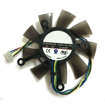 1Pc 75MM FD8015U12S DC12V 0.5AMP 4PIN Cooler Fan For ASUS GTX 560 GTX550Ti HD7850 Graphics Video Card Cooling Fans image
