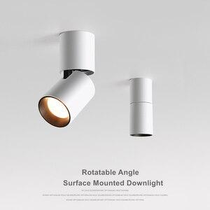 Image 2 - [DBF] 접이식 LED 표면 장착 Downlight 7W 12W 블랙/화이트 하우징 360 학위 회전 3000K/4000K/6000K 천장 스포트 라이트