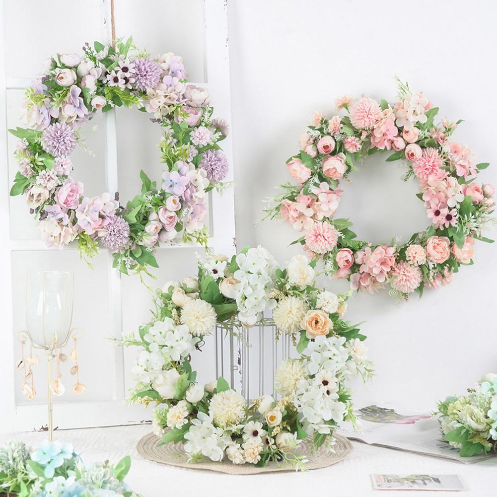 Artificial Flower Wreath Door Garland DIY Wedding Party Hanging Home Wall Garden Decor