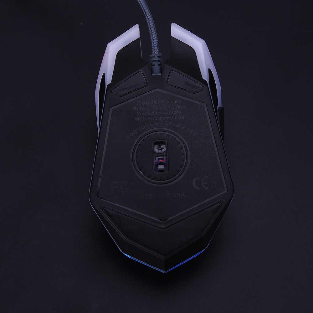SeenDa Проводная игровая мышь 3200 точек/дюйм 7 круговая и дышащая светодиодная Алмазная версия USB компьютерная мышь геймер мыши для LOL CS