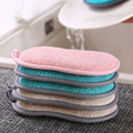 6/3/1pcs Double Sided Kitchen Cleaning Magic Sponge Kitchen Cleaning Sponge Scrubber Sponges for Dishwashing Bathroom Accessorie