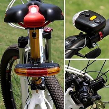 Luz Led de freno direccional para bicicleta, señal de giro para bicicleta,...