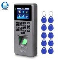 Fingerprint Access Control Teilnahme Maschine Passwort Mitarbeiter Überprüfung-in Zeit Uhr Recorder RFID Tür Controller USB Offline
