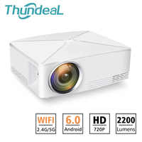 ThundeaL TD80 Mini LED Projector 1280x720 Portable HD HDMI Video C80 3D LCD C80 UP Android WiFi C80Up Beamer Home Cinema