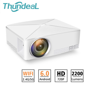 Image 1 - ThundeaL TD80 Mini LED Projector 1280x720 Portable HD HDMI Video C80 3D LCD C80 UP Android WiFi C80Up Beamer Home Cinema