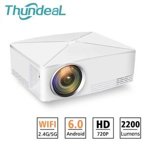 Image 1 - Thundeal td80 mini projetor led 1280x720 portátil hd hdmi vídeo c80 3d lcd c80 up android wifi c80up beamer casa cinema